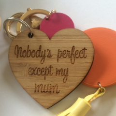 Mothers Day Key Ring - Bamboo