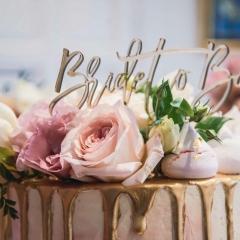 1 line Cake Topper - Gold Mirror