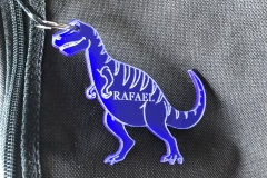 Bag Tag - Blue Acrylic